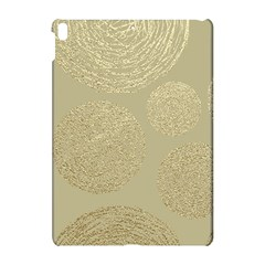 Modern, Gold,polka Dots, Metallic,elegant,chic,hand Painted, Beautiful,contemporary,deocrative,decor Apple Ipad Pro 10 5   Hardshell Case