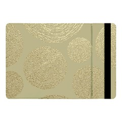 Modern, Gold,polka Dots, Metallic,elegant,chic,hand Painted, Beautiful,contemporary,deocrative,decor Apple Ipad Pro 10 5   Flip Case