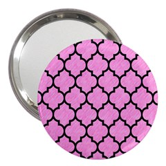 Tile1 Black Marble & Pink Colored Pencil 3  Handbag Mirrors by trendistuff