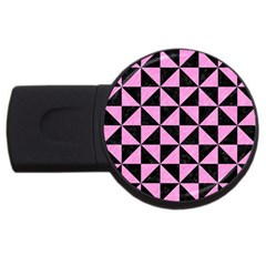 Triangle1 Black Marble & Pink Colored Pencil Usb Flash Drive Round (2 Gb) by trendistuff