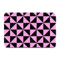 Triangle1 Black Marble & Pink Colored Pencil Plate Mats by trendistuff