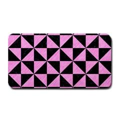 Triangle1 Black Marble & Pink Colored Pencil Medium Bar Mats by trendistuff