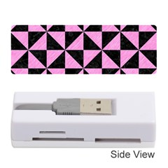 Triangle1 Black Marble & Pink Colored Pencil Memory Card Reader (stick)  by trendistuff