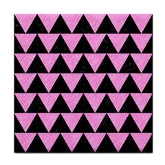 Triangle2 Black Marble & Pink Colored Pencil Tile Coasters by trendistuff