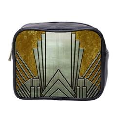 Art Nouveau Gold Silver Mini Toiletries Bag 2 Side by 8fugoso