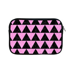 Triangle2 Black Marble & Pink Colored Pencil Apple Ipad Mini Zipper Cases by trendistuff