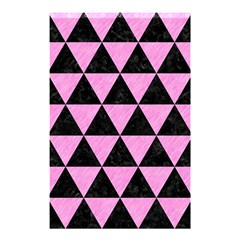Triangle3 Black Marble & Pink Colored Pencil Shower Curtain 48  X 72  (small)  by trendistuff