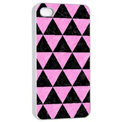 Triangle3 Black Marble & Pink Colored Pencil Apple Iphone 4/4s Seamless Case (white) by trendistuff