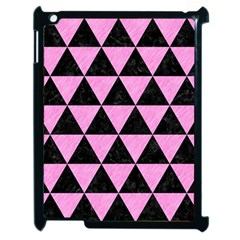 Triangle3 Black Marble & Pink Colored Pencil Apple Ipad 2 Case (black) by trendistuff