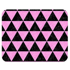 Triangle3 Black Marble & Pink Colored Pencil Double Sided Flano Blanket (medium)  by trendistuff