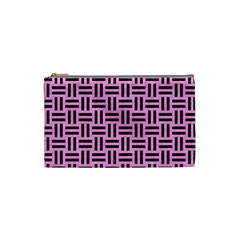 Woven1 Black Marble & Pink Colored Pencil Cosmetic Bag (small)  by trendistuff