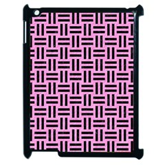 Woven1 Black Marble & Pink Colored Pencil Apple Ipad 2 Case (black) by trendistuff