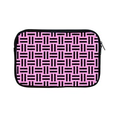 Woven1 Black Marble & Pink Colored Pencil Apple Ipad Mini Zipper Cases by trendistuff
