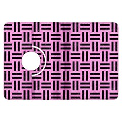 Woven1 Black Marble & Pink Colored Pencil Kindle Fire Hdx Flip 360 Case by trendistuff
