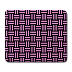 Woven1 Black Marble & Pink Colored Pencil (r) Large Mousepads by trendistuff