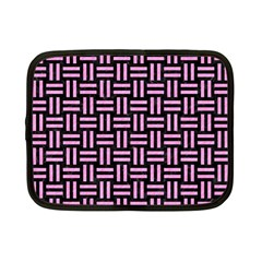Woven1 Black Marble & Pink Colored Pencil (r) Netbook Case (small)  by trendistuff
