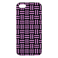Woven1 Black Marble & Pink Colored Pencil (r) Iphone 5s/ Se Premium Hardshell Case by trendistuff