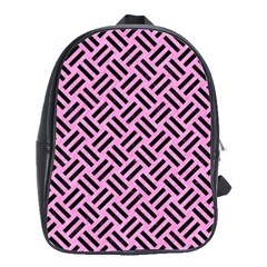 Woven2 Black Marble & Pink Colored Pencil School Bag (large) by trendistuff