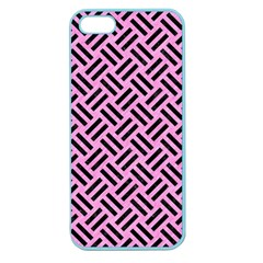 Woven2 Black Marble & Pink Colored Pencil Apple Seamless Iphone 5 Case (color) by trendistuff