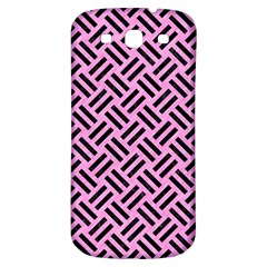 Woven2 Black Marble & Pink Colored Pencil Samsung Galaxy S3 S Iii Classic Hardshell Back Case by trendistuff