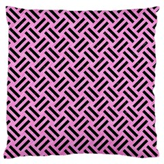 Woven2 Black Marble & Pink Colored Pencil Standard Flano Cushion Case (one Side) by trendistuff