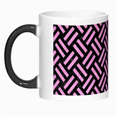 Woven2 Black Marble & Pink Colored Pencil (r) Morph Mugs by trendistuff