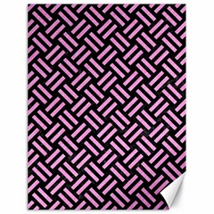 Woven2 Black Marble & Pink Colored Pencil (r) Canvas 18  X 24   by trendistuff
