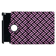 Woven2 Black Marble & Pink Colored Pencil (r) Apple Ipad 3/4 Flip 360 Case by trendistuff