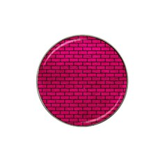 Brick1 Black Marble & Pink Leather Hat Clip Ball Marker by trendistuff