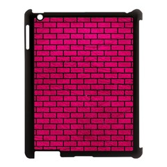 Brick1 Black Marble & Pink Leather Apple Ipad 3/4 Case (black) by trendistuff