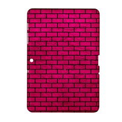 Brick1 Black Marble & Pink Leather Samsung Galaxy Tab 2 (10 1 ) P5100 Hardshell Case  by trendistuff