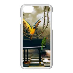 Funny Parrots In A Fantasy World Apple Iphone 7 Seamless Case (white) by FantasyWorld7