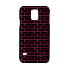 Brick1 Black Marble & Pink Leather (r) Samsung Galaxy S5 Hardshell Case  by trendistuff