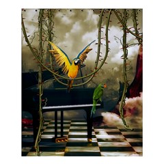 Funny Parrots In A Fantasy World Shower Curtain 60  X 72  (medium)  by FantasyWorld7