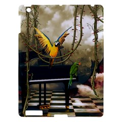 Funny Parrots In A Fantasy World Apple Ipad 3/4 Hardshell Case by FantasyWorld7