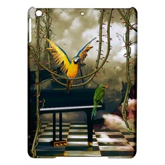 Funny Parrots In A Fantasy World Ipad Air Hardshell Cases by FantasyWorld7