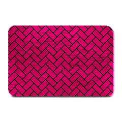 Brick2 Black Marble & Pink Leather Plate Mats by trendistuff