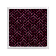Brick2 Black Marble & Pink Leather (r) Memory Card Reader (square)  by trendistuff