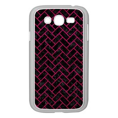 Brick2 Black Marble & Pink Leather (r) Samsung Galaxy Grand Duos I9082 Case (white) by trendistuff