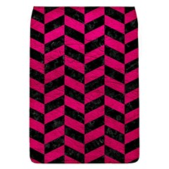 Chevron1 Black Marble & Pink Leather Flap Covers (l)  by trendistuff