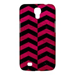 Chevron2 Black Marble & Pink Leather Samsung Galaxy Mega 6 3  I9200 Hardshell Case by trendistuff