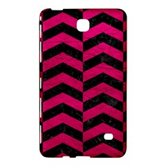 Chevron2 Black Marble & Pink Leather Samsung Galaxy Tab 4 (8 ) Hardshell Case  by trendistuff