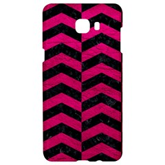 Chevron2 Black Marble & Pink Leather Samsung C9 Pro Hardshell Case  by trendistuff