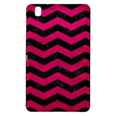 Chevron3 Black Marble & Pink Leather Samsung Galaxy Tab Pro 8 4 Hardshell Case by trendistuff