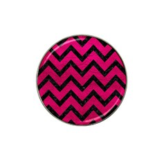 Chevron9 Black Marble & Pink Leather Hat Clip Ball Marker (10 Pack) by trendistuff