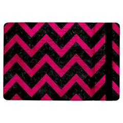 Chevron9 Black Marble & Pink Leather (r) Ipad Air Flip by trendistuff