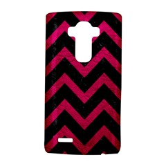 Chevron9 Black Marble & Pink Leather (r) Lg G4 Hardshell Case by trendistuff