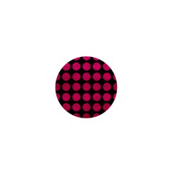 Circles1 Black Marble & Pink Leather (r) 1  Mini Magnets by trendistuff