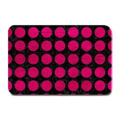 Circles1 Black Marble & Pink Leather (r) Plate Mats by trendistuff