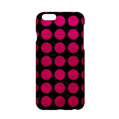 Circles1 Black Marble & Pink Leather (r) Apple Iphone 6/6s Hardshell Case by trendistuff